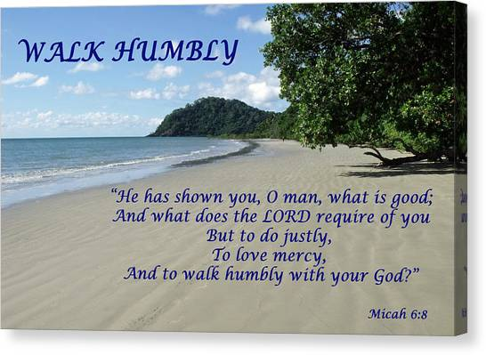 Walk Humbly With Your God Canvas Print