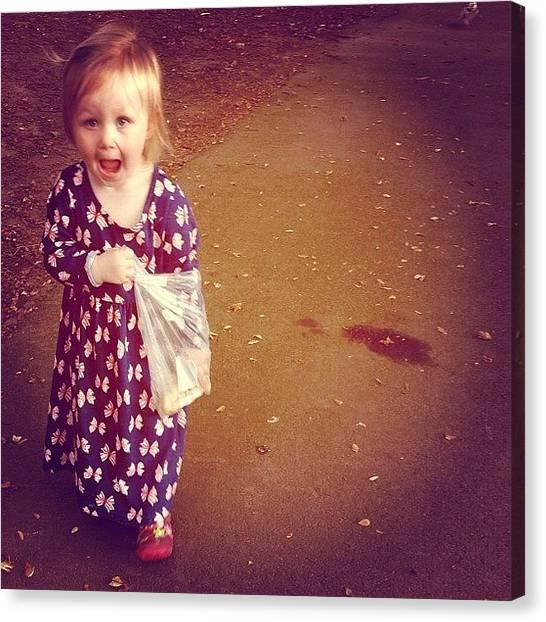 Squirrels Canvas Print - #walk #in #the #park #feeding #the by Jordan Hale