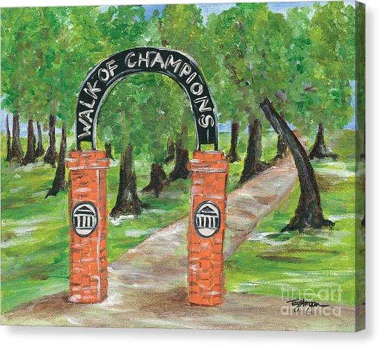 University Of Mississippi Ole Miss Canvas Print - Walk Of Champions- Ole Miss Grove by Tay Morgan