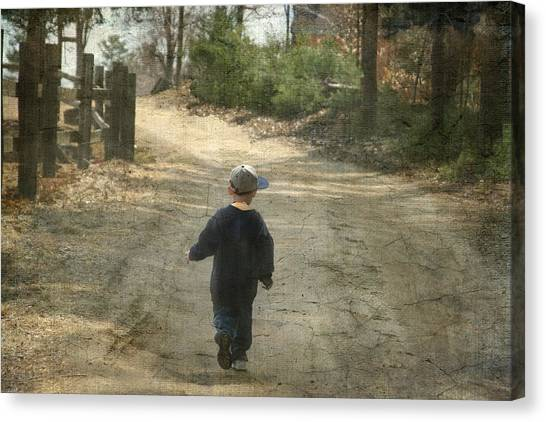 Walk On The Road  Canvas Print