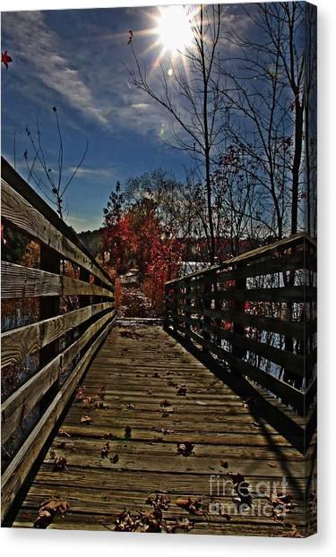 Walk The Line Canvas Print by Scott Allison