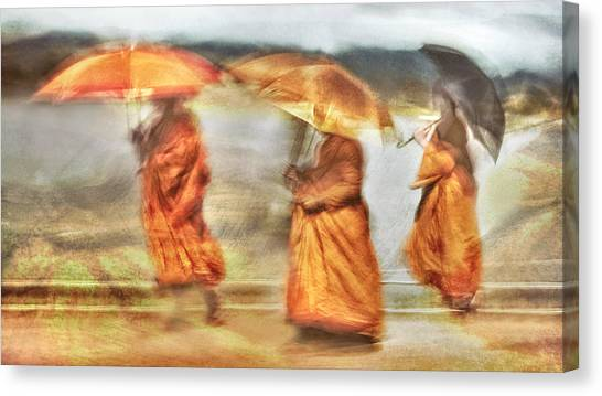 Monks Canvas Print - Walk The Line by The Jar -
