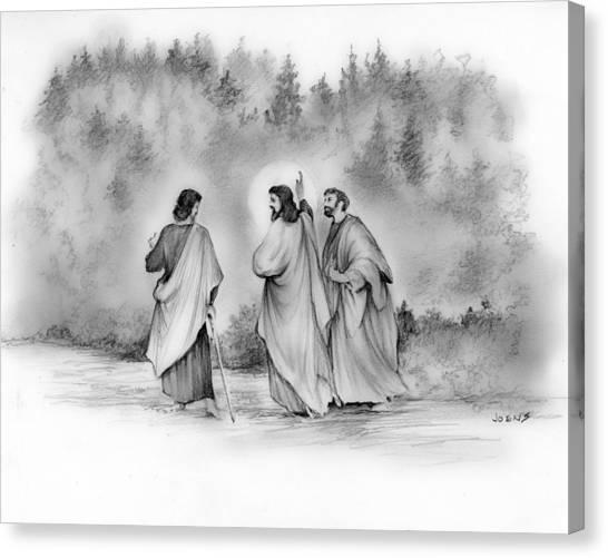 Walk Canvas Print - Walk To Emmaus by Greg Joens