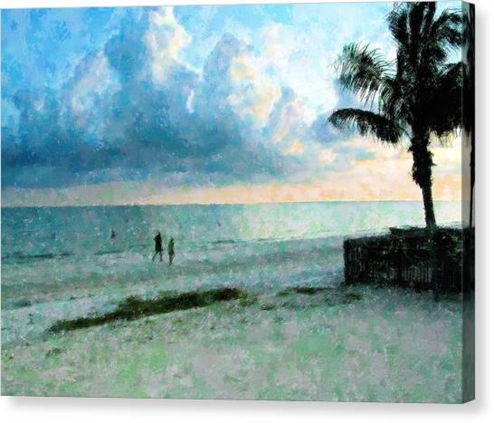 Walk Under Blue  Canvas Print
