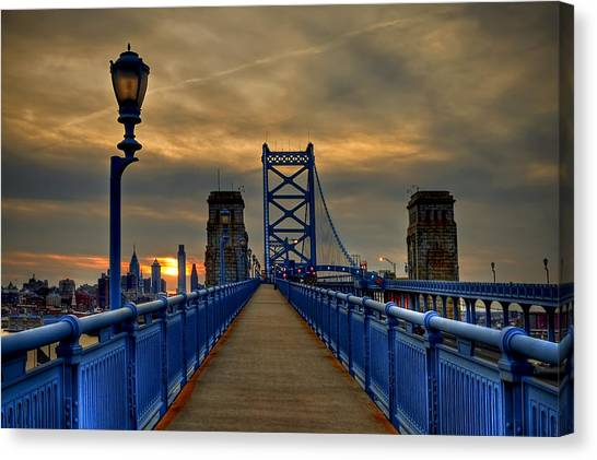 Philadelphia Canvas Print - Walk With Me by Evelina Kremsdorf