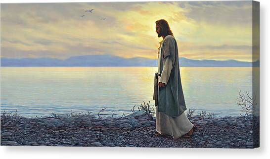 Blue Sky Canvas Print - Walk With Me by Greg Olsen