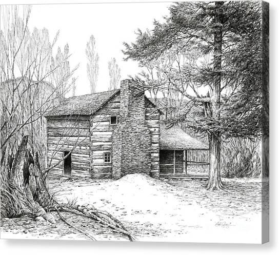 Walker Sisters' Farm House Canvas Print