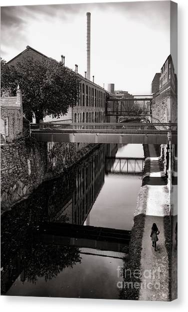 Georgetown University Canvas Print - Walking Along The C And O by Olivier Le Queinec