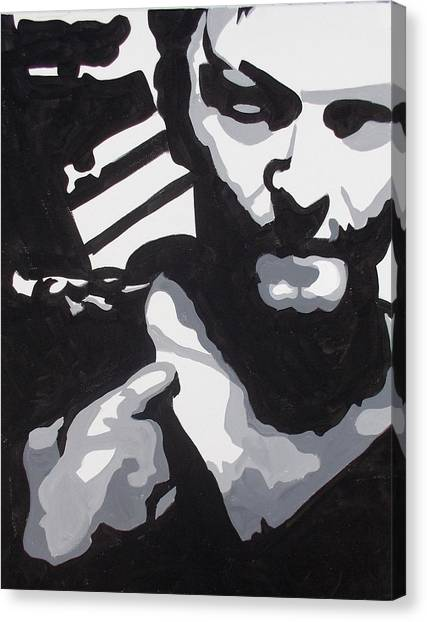 Walking Dead Daryl Close Canvas Print