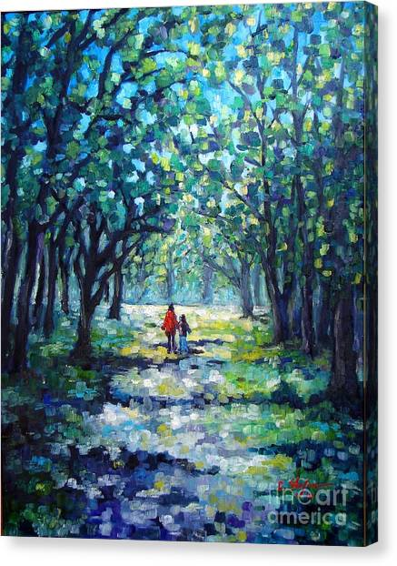 Walking In The Park Canvas Print