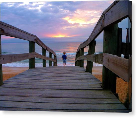 Walking Into Paradise Canvas Print