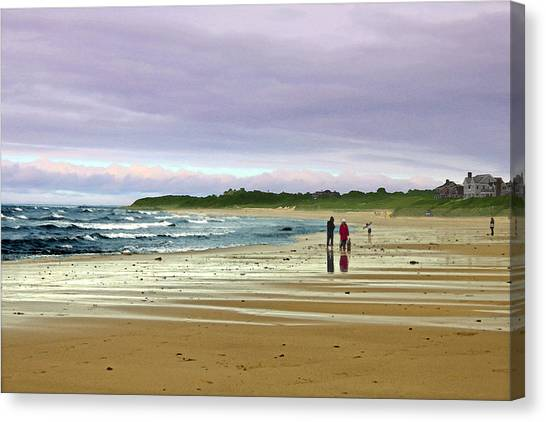 Walking The Dog After A Storm Canvas Print