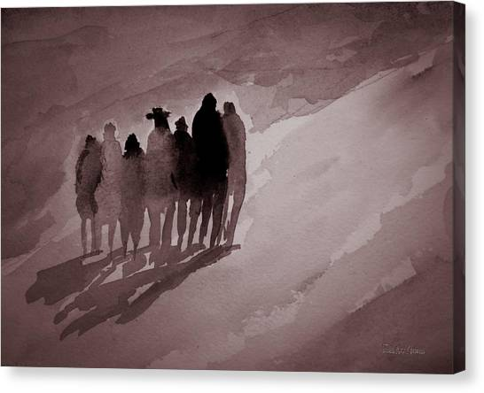Walking The Path Canvas Print