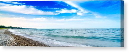 Walking The Shore - Extended Canvas Print