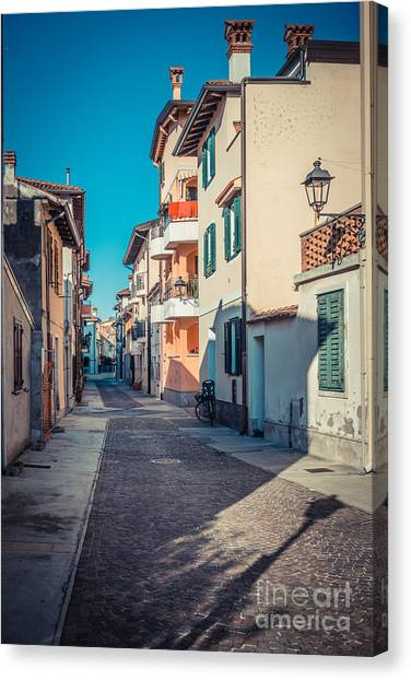 walking through Grado - through the past Canvas Print