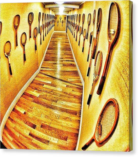 Tennis Canvas Print - Walking Through #history #wood #town by Brett Connors
