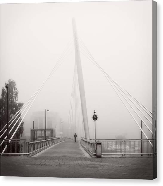 Walking Through The Mist Canvas Print