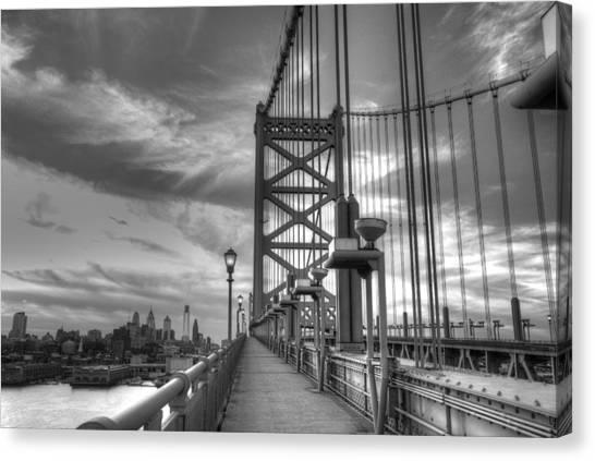 Philadelphia Phillies Canvas Print - Walking To Philadelphia by Jennifer Ancker