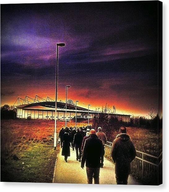 Drake Canvas Print - Walking To The #kcstadium by Chris Drake