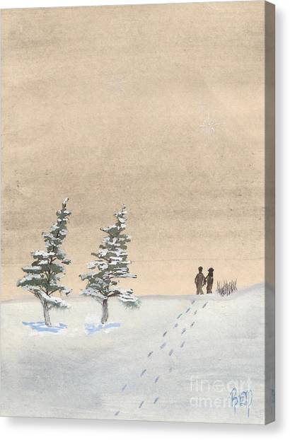 Walking Together Canvas Print by Robert Meszaros