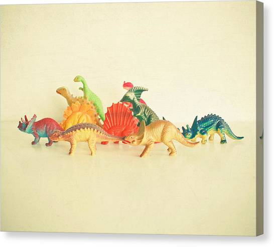 Dinosaurs Canvas Print - Walking With Dinosaurs by Cassia Beck