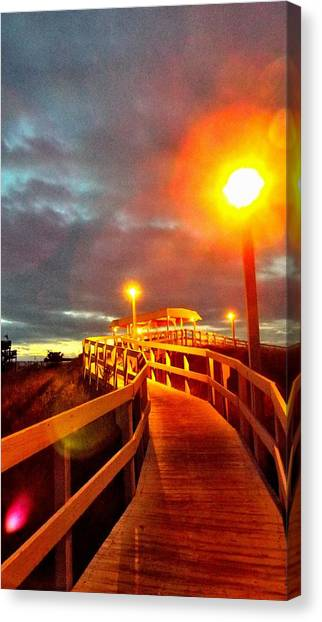 Walkway To Atlantic Canvas Print