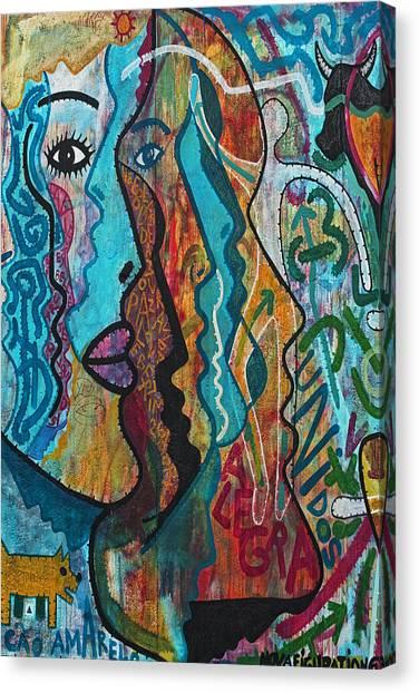 Berlin Wall Canvas Print - Wall-art 028 by Joachim G Pinkawa