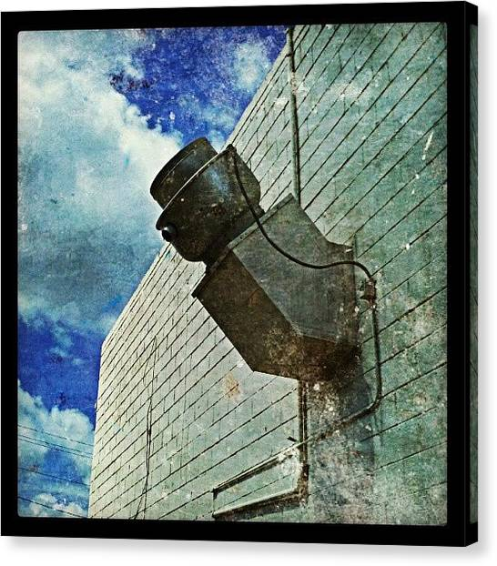 Warehouses Canvas Print - #wall, #sky - #whatisit by Glen Abbott