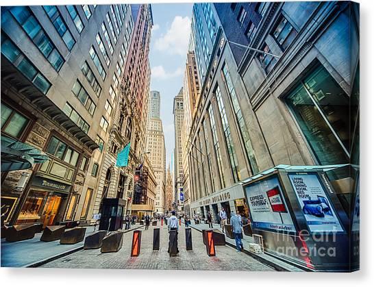 Wall Street Canvas Print