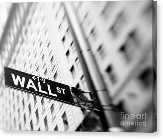 Wall Street Street Sign Canvas Print