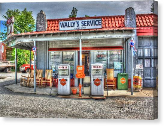 Wally's Service Station Canvas Print