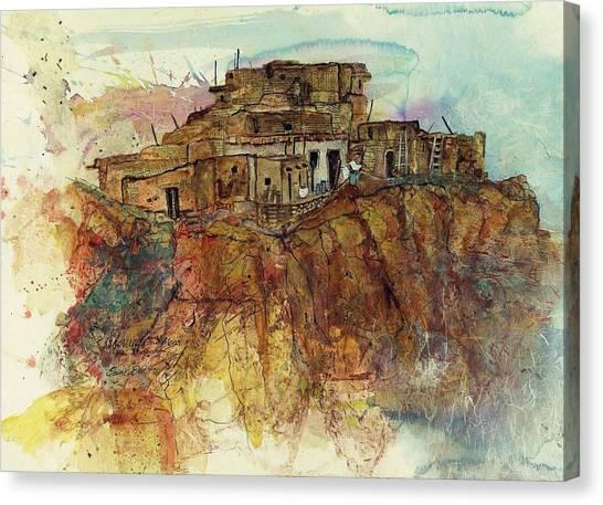 Walpi Village First Mesa  Hopi Reservation Canvas Print