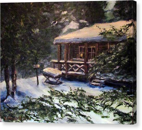 Walsh Cabin On Cranberry Lake Canvas Print