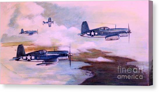 Pacific Division Canvas Print - Walsh's Flight Color Study by Stephen Roberson