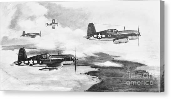 Pacific Division Canvas Print - Walsh's Flight Value Sketch by Stephen Roberson