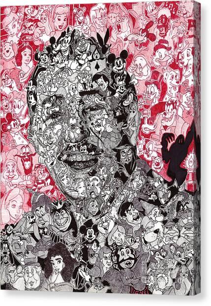 Ballpoint Pens Canvas Print - Walt Disney Memories by Serafin Ureno