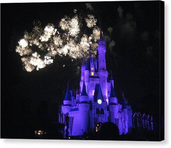 Walt Disney World Resort - Magic Kingdom - 121245 Canvas Print by DC Photographer