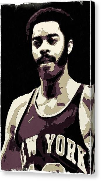 New York Knicks Canvas Print - Walt Frazier Poster Art by Florian Rodarte