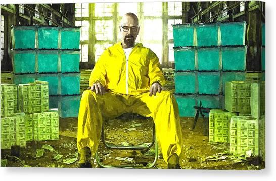 Walter White As Heisenberg Painting Canvas Print
