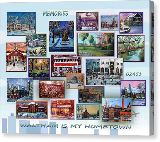 Waltham Is My Hometown Canvas Print