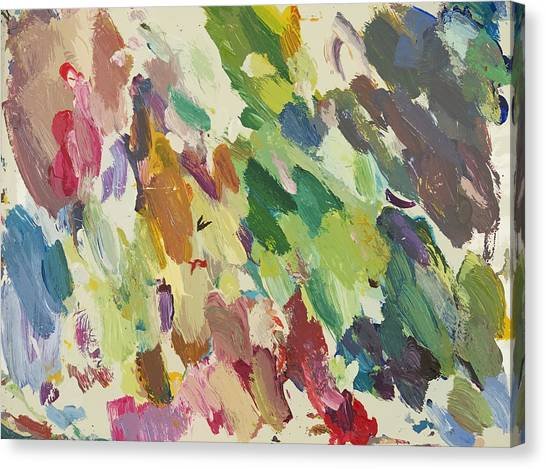 Abstract Expressionism Canvas Print - Waltz Time by David Lloyd Glover