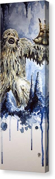 Wampa Canvas Print by David Kraig