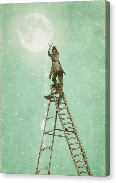 Moon Canvas Print - Waning Moon by Eric Fan
