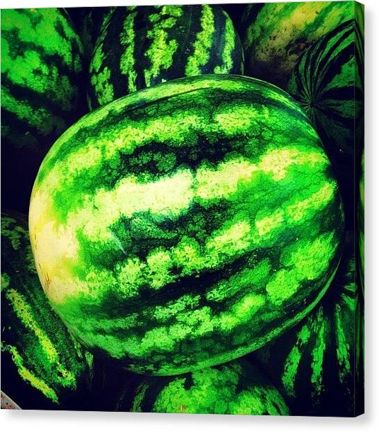 Melons Canvas Print - Want A #melon? #ibiza #ig_captures #ig by R Photography