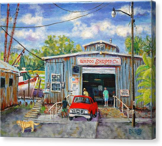Wapoo Shrimp Company Canvas Print