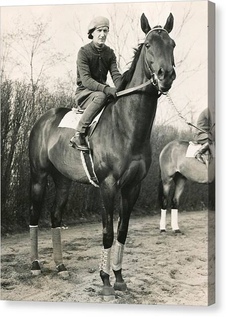 Sprint Canvas Print - War Admiral Vintage Horse Racing #001 by Retro Images Archive