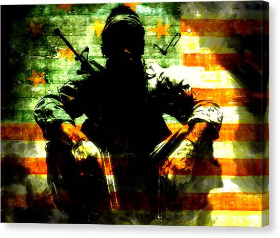 Call Of Duty Canvas Print - War Is Hell by Brian Reaves