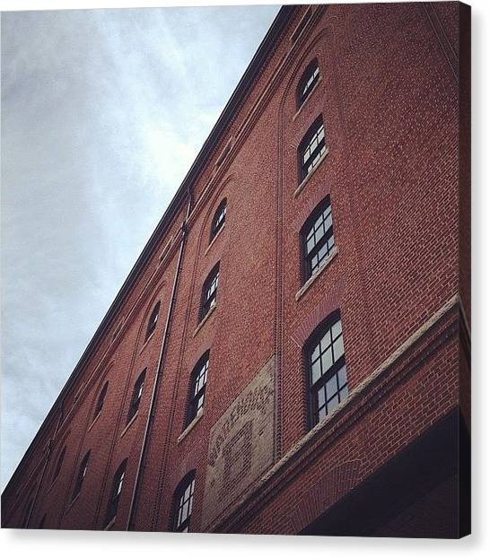 Orioles Canvas Print - #warehouse #camdenyards #baltimore by Pete Michaud