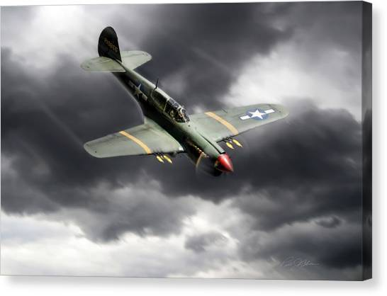 United States Army Air Corps Canvas Print - Warhawk by Peter Chilelli