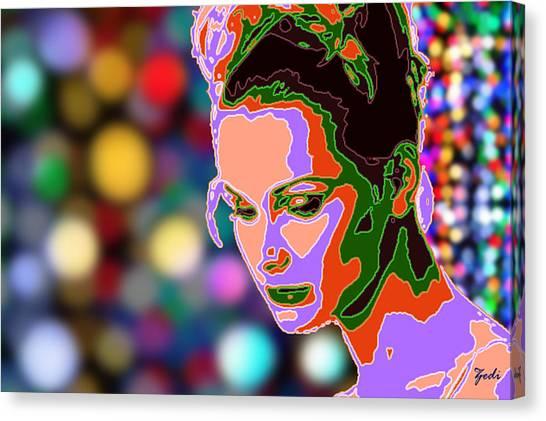 Warhol Style Portrait Canvas Print